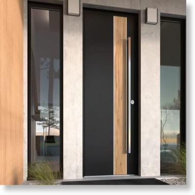 Vente de portes d'entrée aluminium pour maison, villa dans la Drôme et dans l'Ardèche