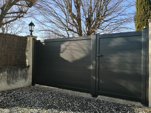 Portail aluminium 2 vantaux Drome et Ardèche